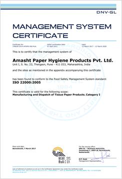 Amasht ISO Certificate Image